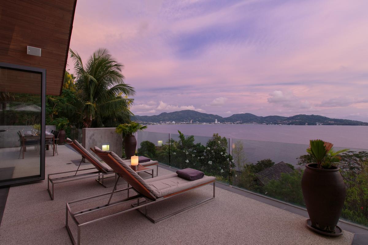 Outdoor lounging at villa 15, Samsara private estate, Kamala, Phuket, Thailand