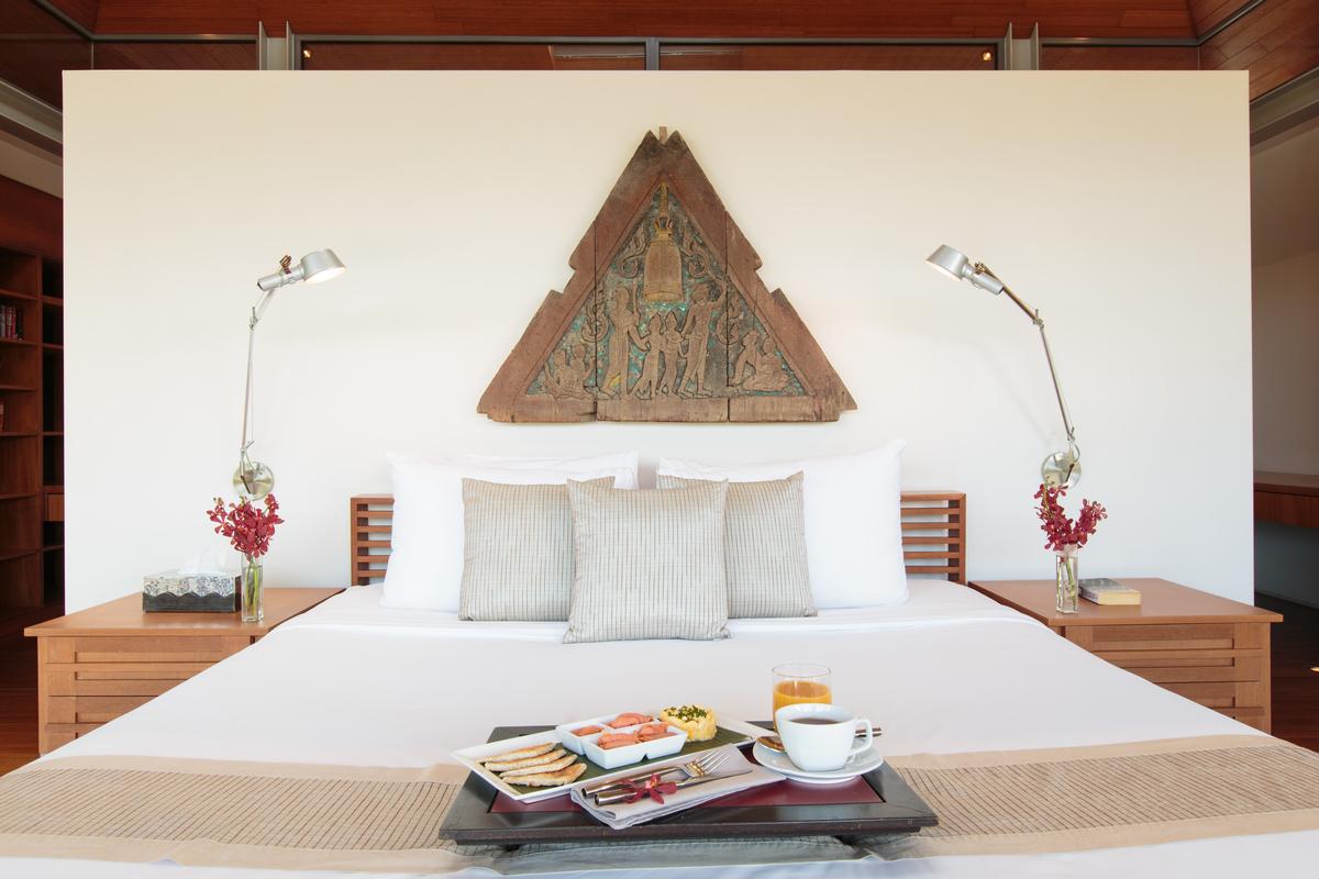 Master bedroom at villa 15, Samsara private estate, Kamala, Phuket, Thailand