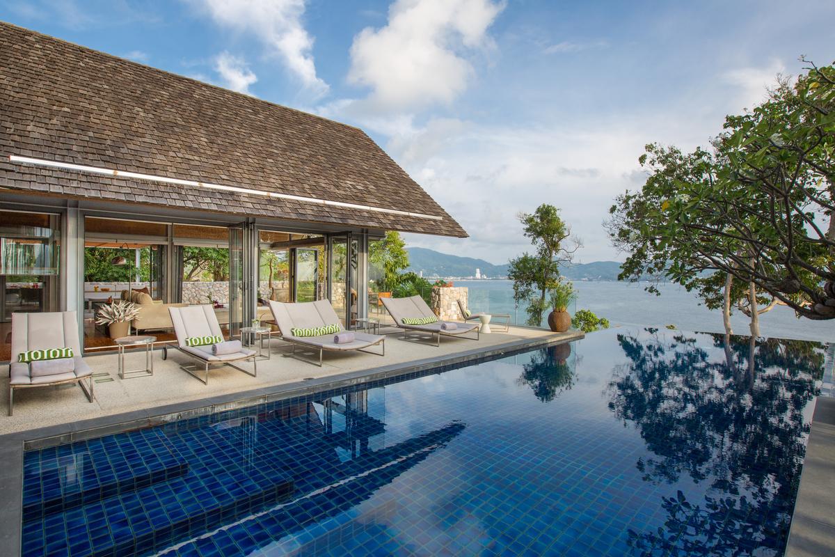 Swimming pool at villa 5, Samsara private estate, Kamala, Phuket, Thailand