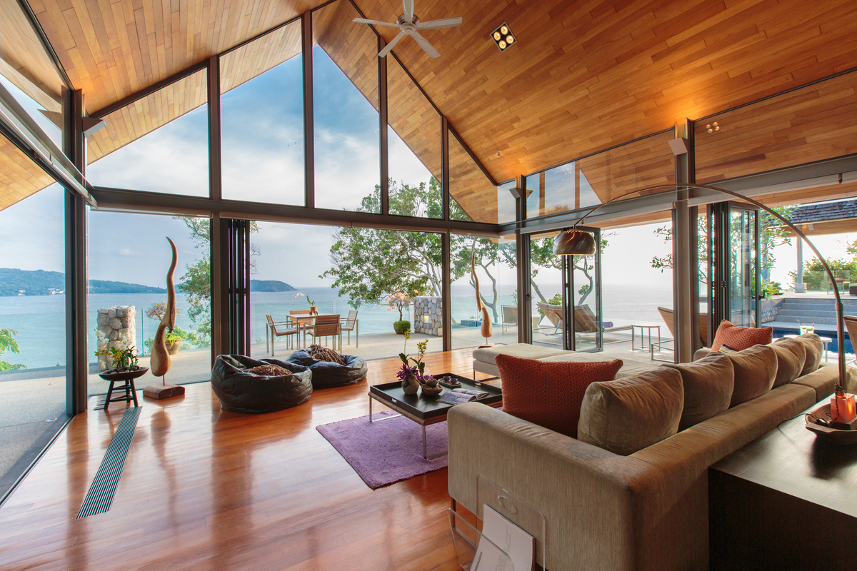 Living room at villa 5, Samsara private estate, Kamala, Phuket, Thailand