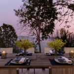 Outdoor dining at villa 6, Samsara private estate, Kamala, Phuket, Thailand