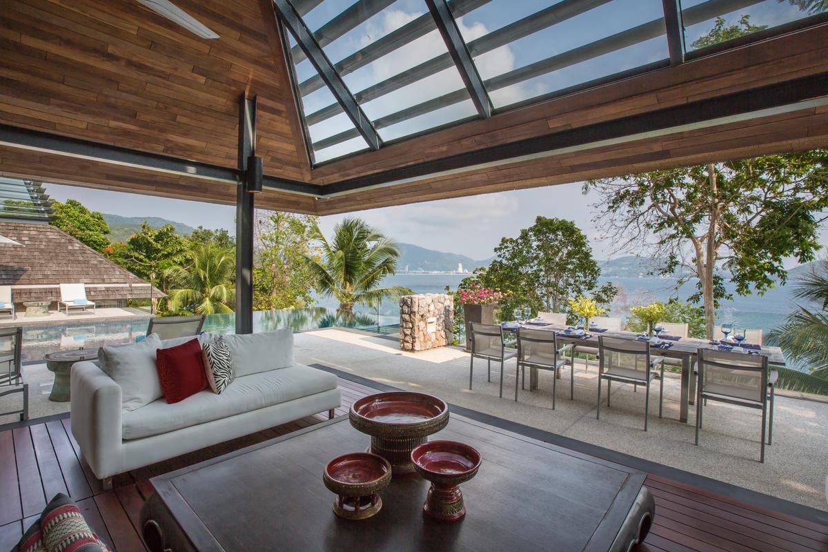 Living room at villa 6, Samsara private estate, Kamala, Phuket, Thailand