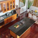 Kitchen area at villa 1, Samsara private estate, Kamala, Phuket, Thailand