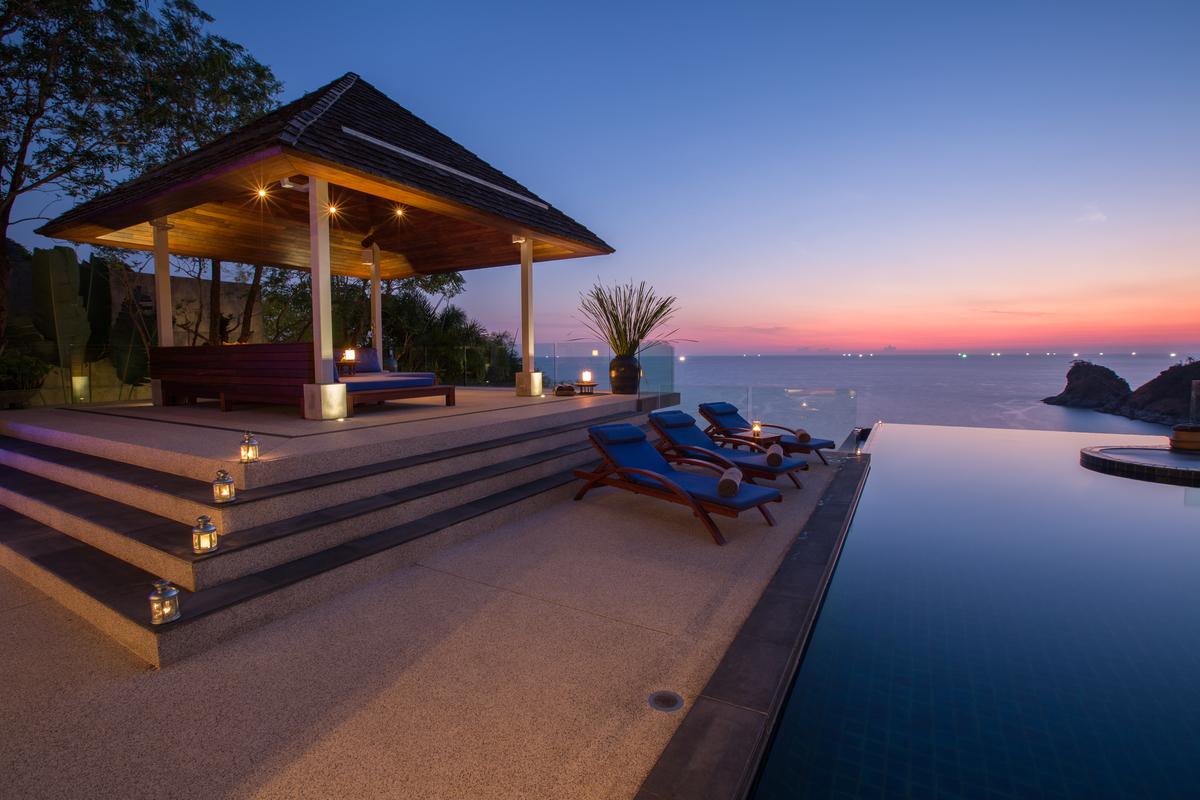Pool Sala at villa 2, Samsara private estate, Kamala, Phuket, Thailand