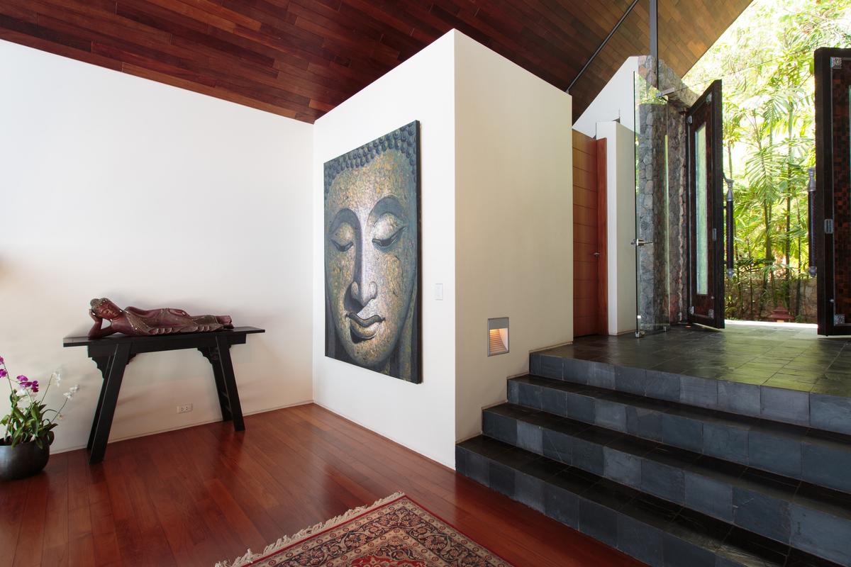 Entrance at villa 2, Samsara private estate, Kamala, Phuket, Thailand
