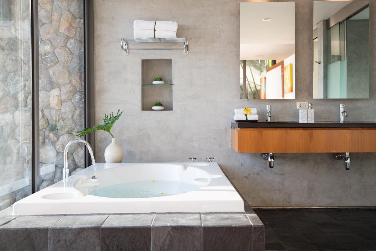 Bathroom at villa 2, Samsara private estate, Kamala, Phuket, Thailand
